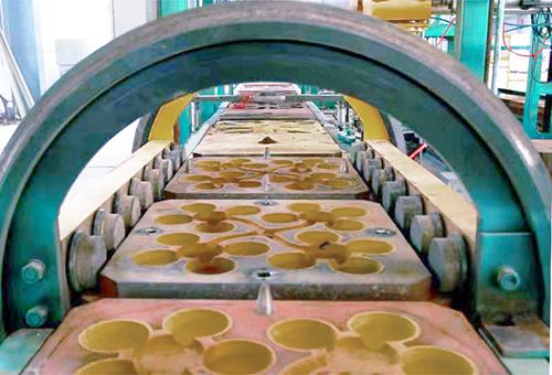 铁模覆砂铸球生产线