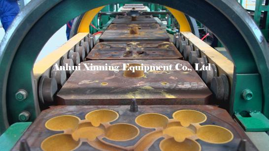 铁模覆砂铸球自动生产线