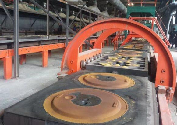 (水平分型)鐵模覆砂鑄造生產線