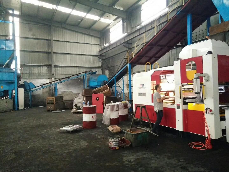 杭州众恒机械公司610×510全自动无箱造型机顺利试产成功!