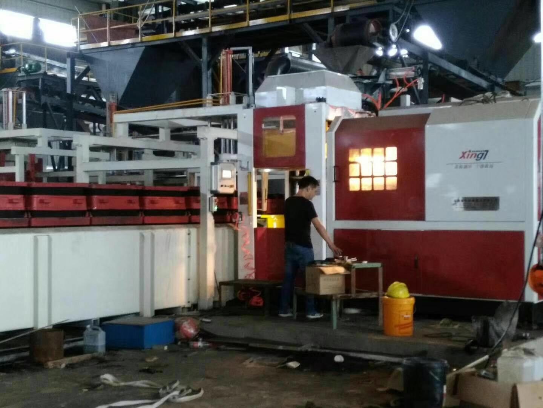 浙江兆元机械两台全自动无箱造型机匹配两条叠式全自动浇铸线正式投产!